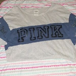 Victoria Secret Pink Quarter Length Sleeved Shirt